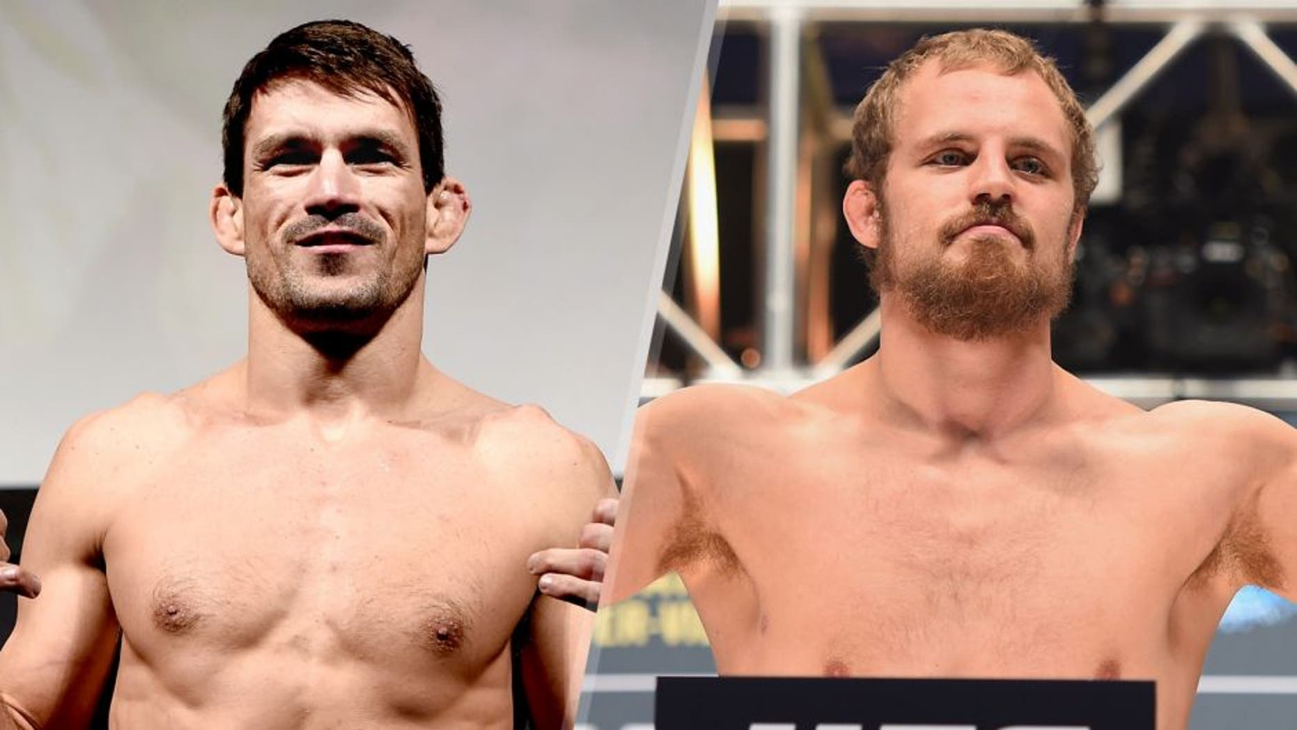 Demian Maia of Brazil weighs in during the UFC Fight Night Weigh-ins at Maracanazinho on March 20, 2015 in Rio de Janeiro, Brazil. (Photo by Buda Mendes/Zuffa LLC/Zuffa LLC via Getty Images) Gunnar Nelson steps onto the scale during the UFC 189 weigh-in inside MGM Grand Garden Arena on July 10, 2015 in Las Vegas, Nevada. (Photo by Josh Hedges/Zuffa LLC/Zuffa LLC via Getty Images)