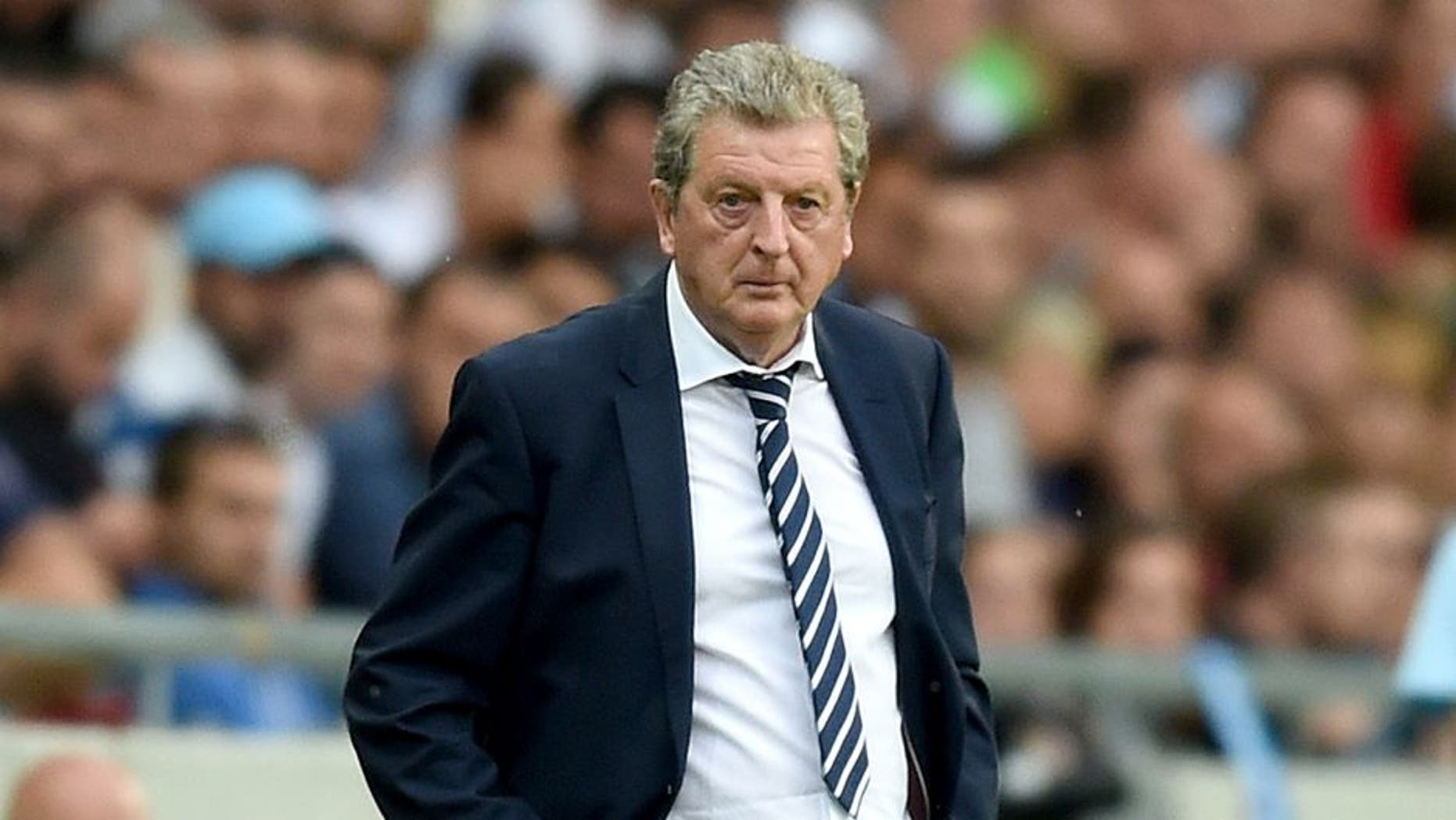 LJUBLJANA, SLOVENIA - JUNE 14: England manager Roy Hodgson looks on during the UEFA EURO 2016 Qualifier between Slovenia and England on at the Stozice Arena on June 14, 2015 in Ljubljana, Slovenia. (Photo by Michael Regan - The FA/The FA via Getty Images)