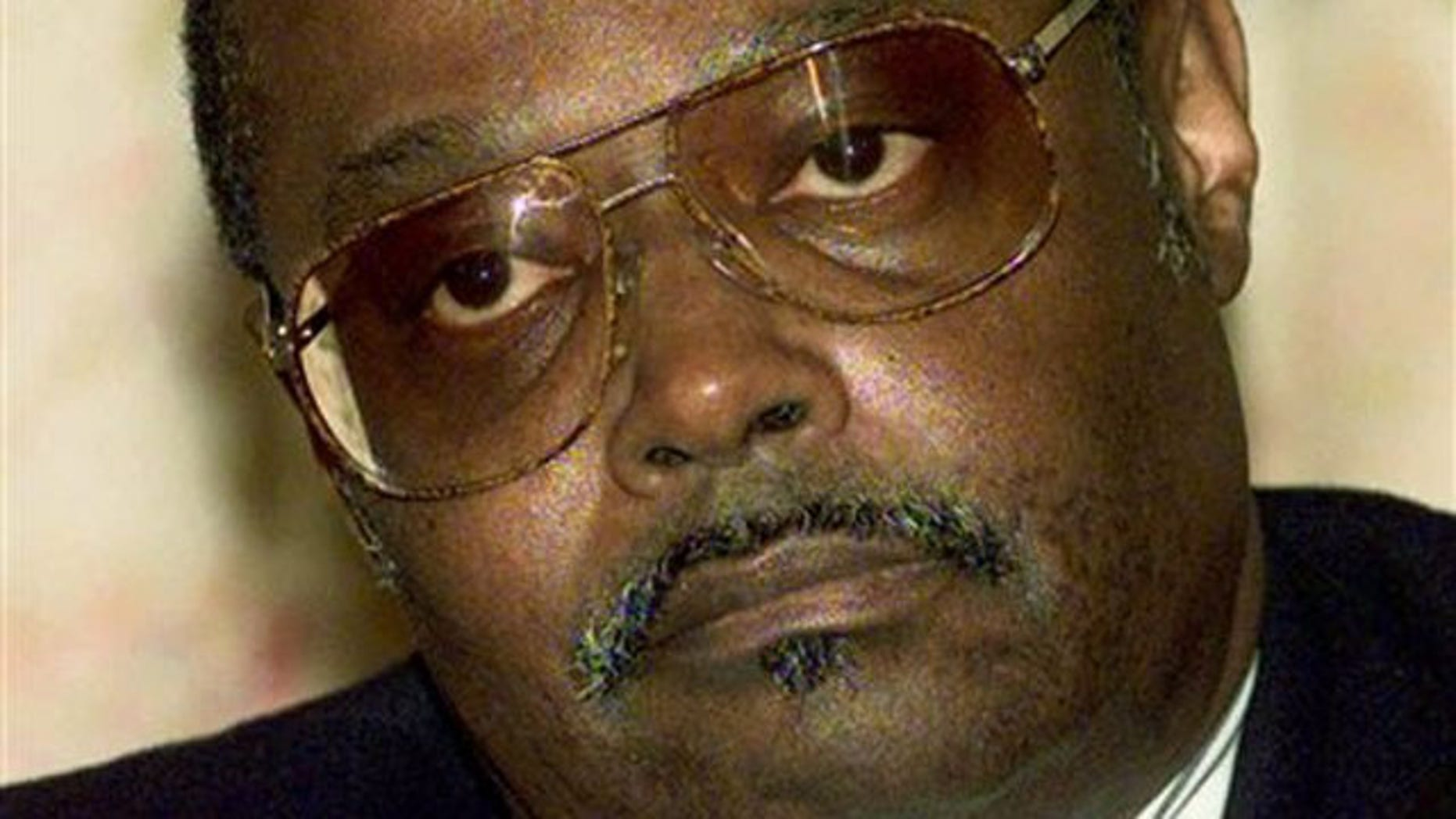 In a Sept. 24, 1997 file photo, Jefferson Thomas, one of the nine students that integrated Central High School in 1957 in Little Rock, Ark. listens during a news conference in Little Rock, Ark. (AP).