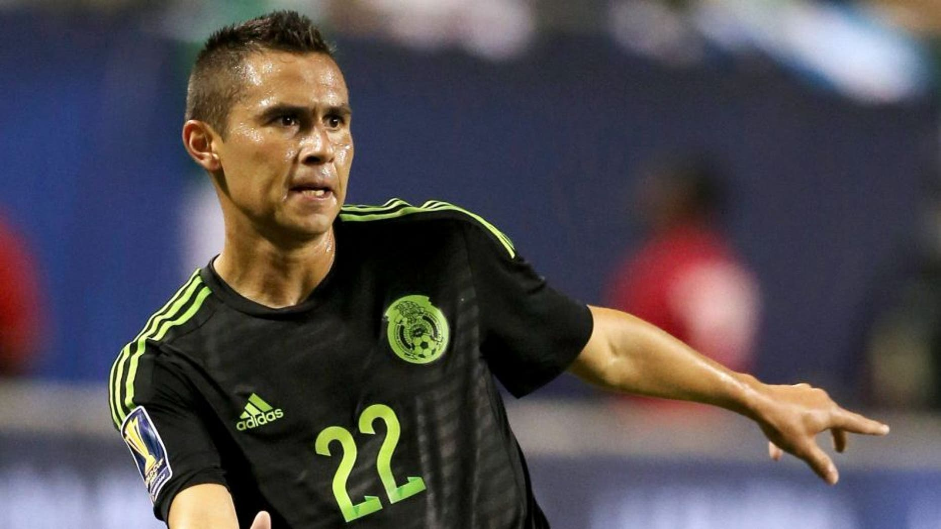 CHICAGO, IL - JULY 09: Paul Aguilar of Mexico during the CONCACAF Gold Cup match between Mexico and Cuba at Soldier Field on July 9, 2015 in Chicago, Illinois. (Photo by Matthew Ashton - AMA/Getty Images)