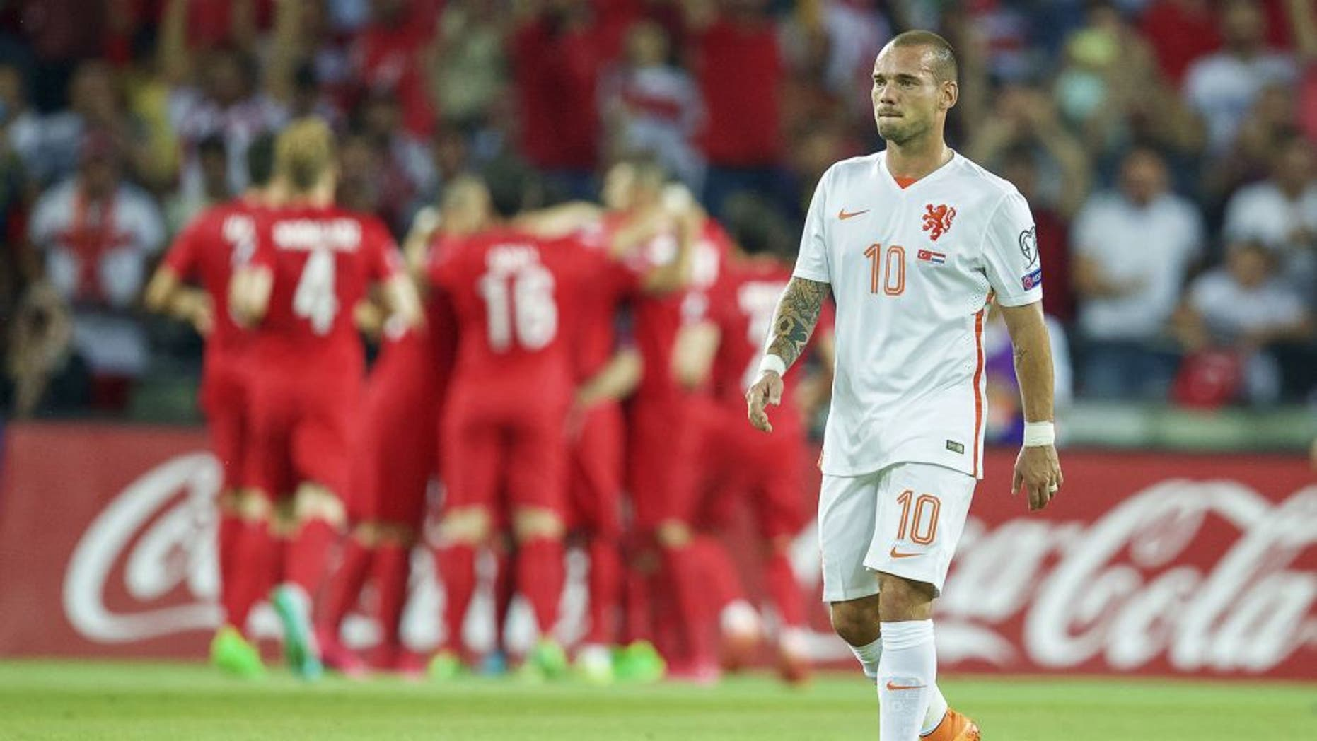 Wesley Sneijderof Holland during the UEFA Euro 2016 qualifying match between Turkey and Netherlands on September 6, 2015 at the Konya Büyüksehir Torku Arena in Konya, Turkey(Photo by VI Images via Getty Images)