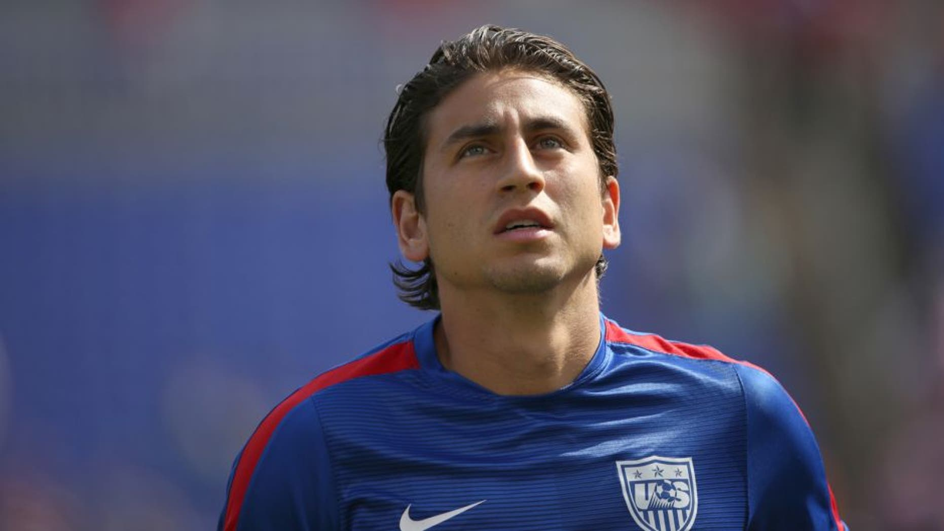 BALTIMORE, MD - JULY 18: Alejandro Bedoya of United States of America during the Gold Cup Quarter Final between USA and Cuba at M&T Bank Stadium on July 18, 2015 in Baltimore, Maryland. (Photo by Matthew Ashton - AMA/Getty Images)