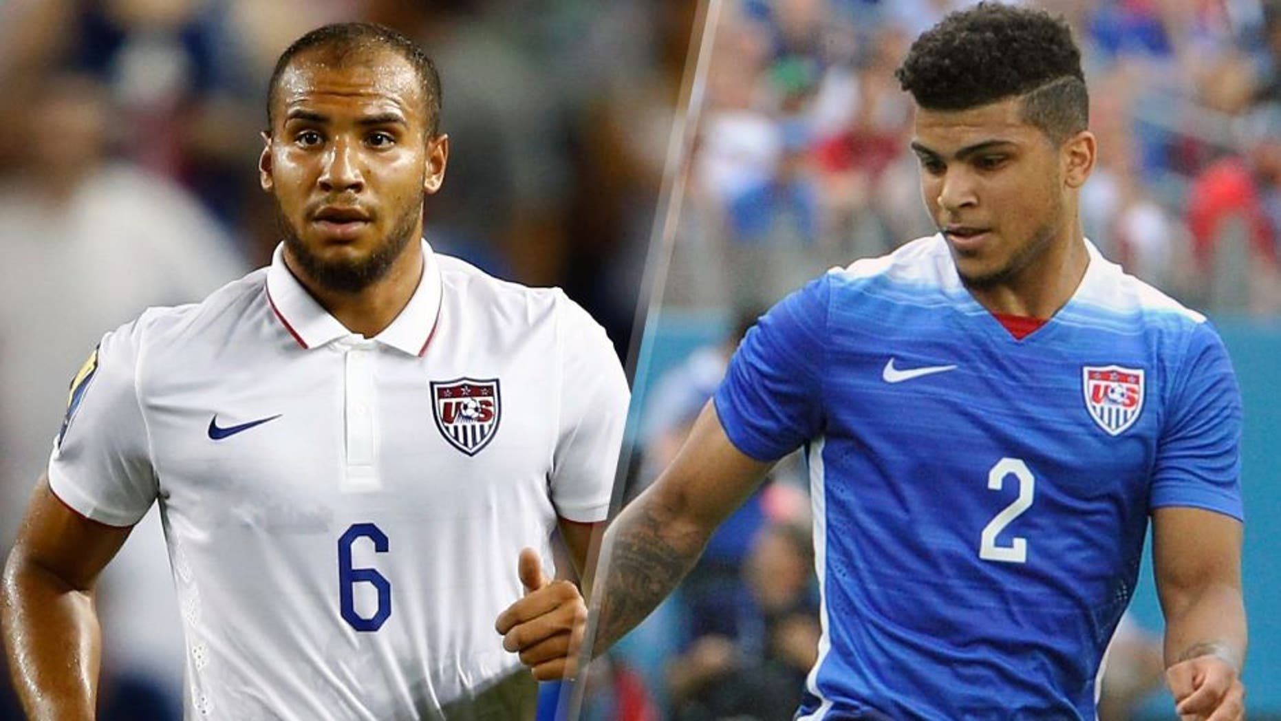 KANSAS CITY, KS - JULY 13: John Brooks #6 of the United States in action during the CONCACAF Gold Cup match against Panama at Sporting Park on July 13, 2015 in Kansas City, Kansas. (Photo by Jamie Squire/Getty Images) NASHVILLE, TN - JULY 03: DeAndre Yedlin #2 of the United States Men's National team plays against Guatemala in an international friendly match at Nissan Stadium on July 3, 2015 in Nashville, Tennessee. (Photo by Frederick Breedon/Getty Images)