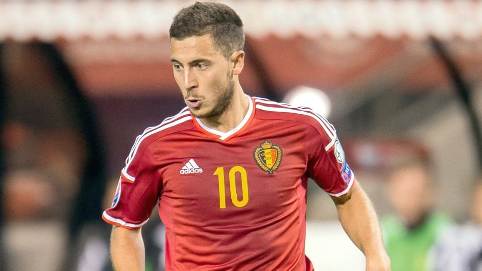 Eden Hazard of Belgium during the UEFA Euro 2016 qualifying match between Belgium and Bosnia and Herzegovina on September 3, 2015 at the Koning Boudewijn Stadium in Brussels, Belgium.(Photo by VI Images via Getty Images)