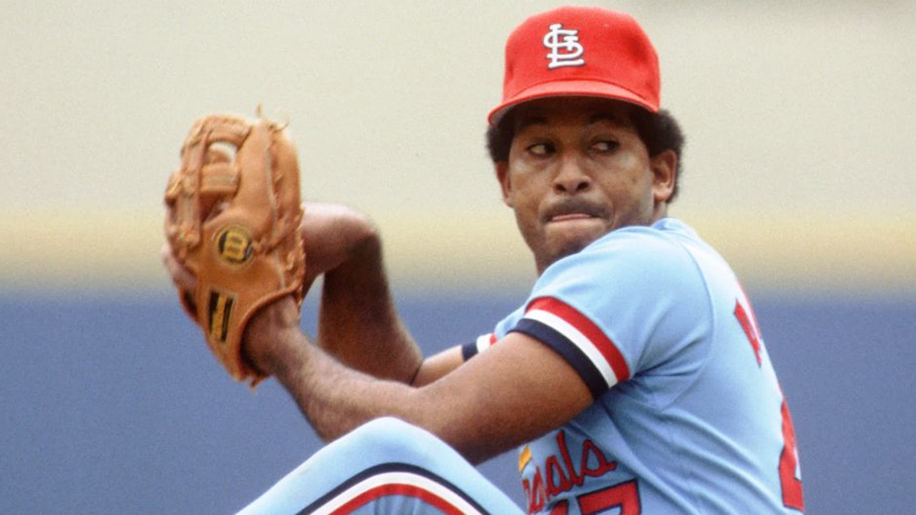 PITTSBURGH - CIRCA 1983: Joaquin Andujar #47 of the St. Louis Cardinals pitches against the Pittsburgh Pirates during a game at Three Rivers Stadium circa 1983 in Pittsburgh, Pennsylvania. (Photo by George Gojkovich/Getty Images) *** Local Caption *** Joaquin Andujar