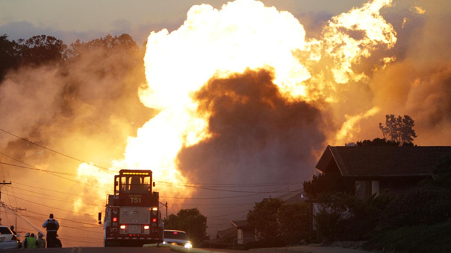 Sept. 9: A massive fire roars through a San Bruno, California, neighborhood.