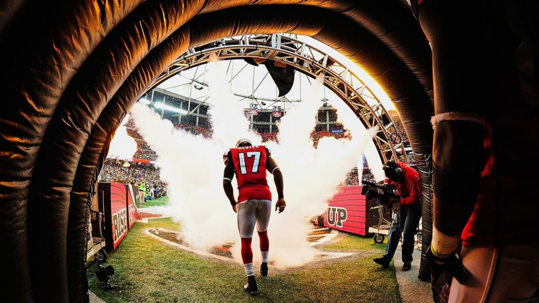 ATLANTA, GA - DECEMBER 14: Devin Hester #17 of the Atlanta Falcons is introduced prior to the game against the Pittsburgh Steelers at the Georgia Dome on December 14, 2014 in Atlanta, Georgia. (Photo by Scott Cunningham/Getty Images)