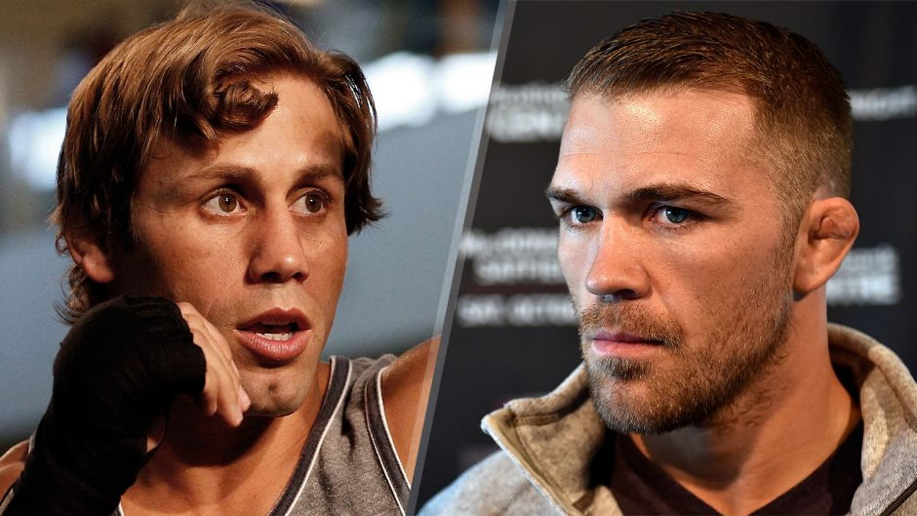 Urijah Faber holds an open training session ahead of UFC 175 at the Fashion Show Mall on July 2, 2014 in Las Vegas, Nevada. (Photo by Josh Hedges/Zuffa LLC/Zuffa LLC via Getty Images) Bryan Caraway speaks to the media during the UFC Fight Night Ultimate Media Day on October 2, 2014 in Halifax, Nova Scotia, Canada. (Photo by Jeff Bottari/Zuffa LLC/Zuffa LLC via Getty Images)