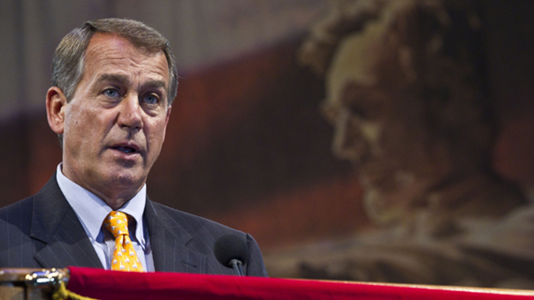 Aug. 31: House Republican leader John Boehner speaks at the American Legion convention in Milwaukee.