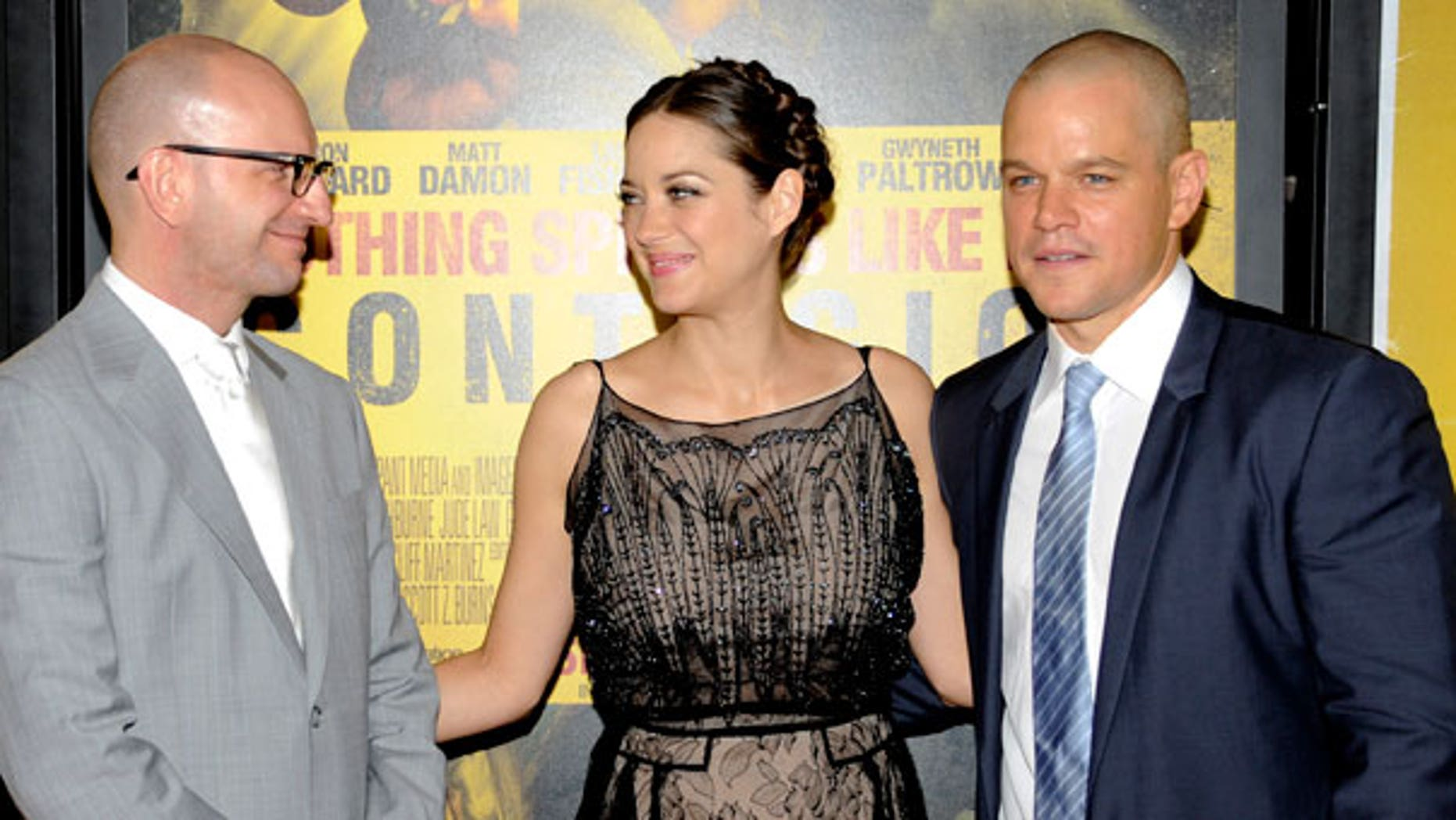 Sept. 7: Director Steven Soderbergh, actress Marion Cotillard and actor Matt Damon attend the premiere of 'Contagion' at Jazz at Lincoln Center .