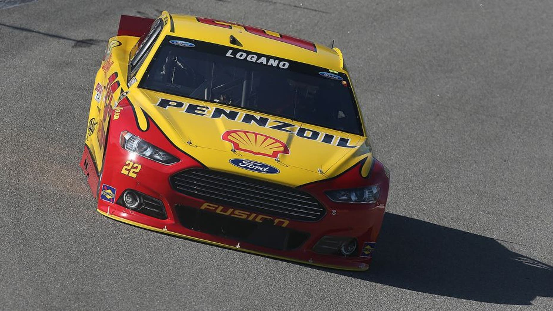 RICHMOND, VA - SEPTEMBER 11: Joey Logano, driver of the #22 Shell Pennzoil Ford, practices for the NASCAR Sprint Cup Series Federated Auto Parts 400 at Richmond International Raceway on September 11, 2015 in Richmond, Virginia. (Photo by Matt Sullivan/NASCAR via Getty Images)