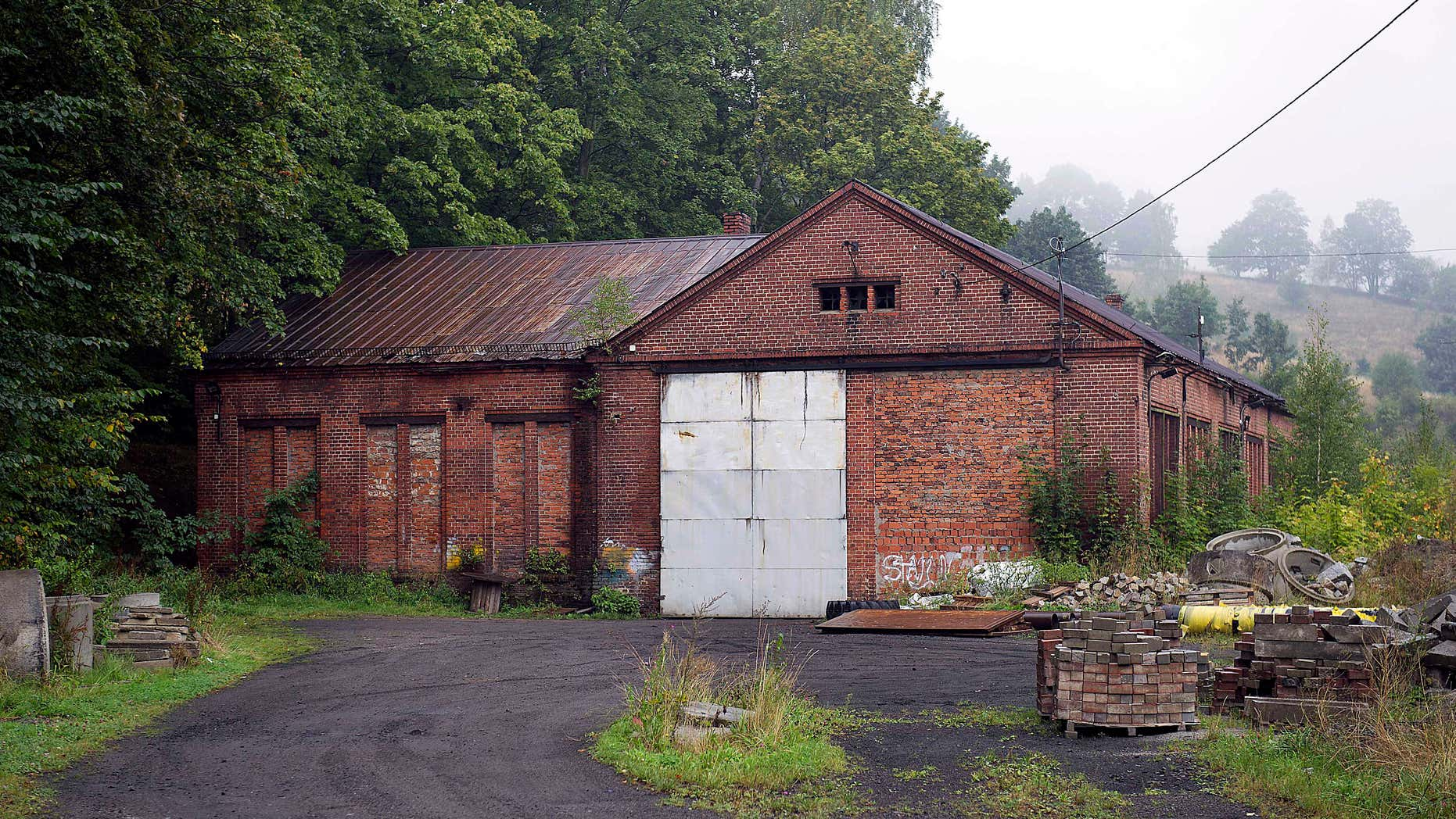 Sept. 11, 2015: The abandoned building of a German nazi-era railway installation in Walim, near Walbrzych, in Poland.