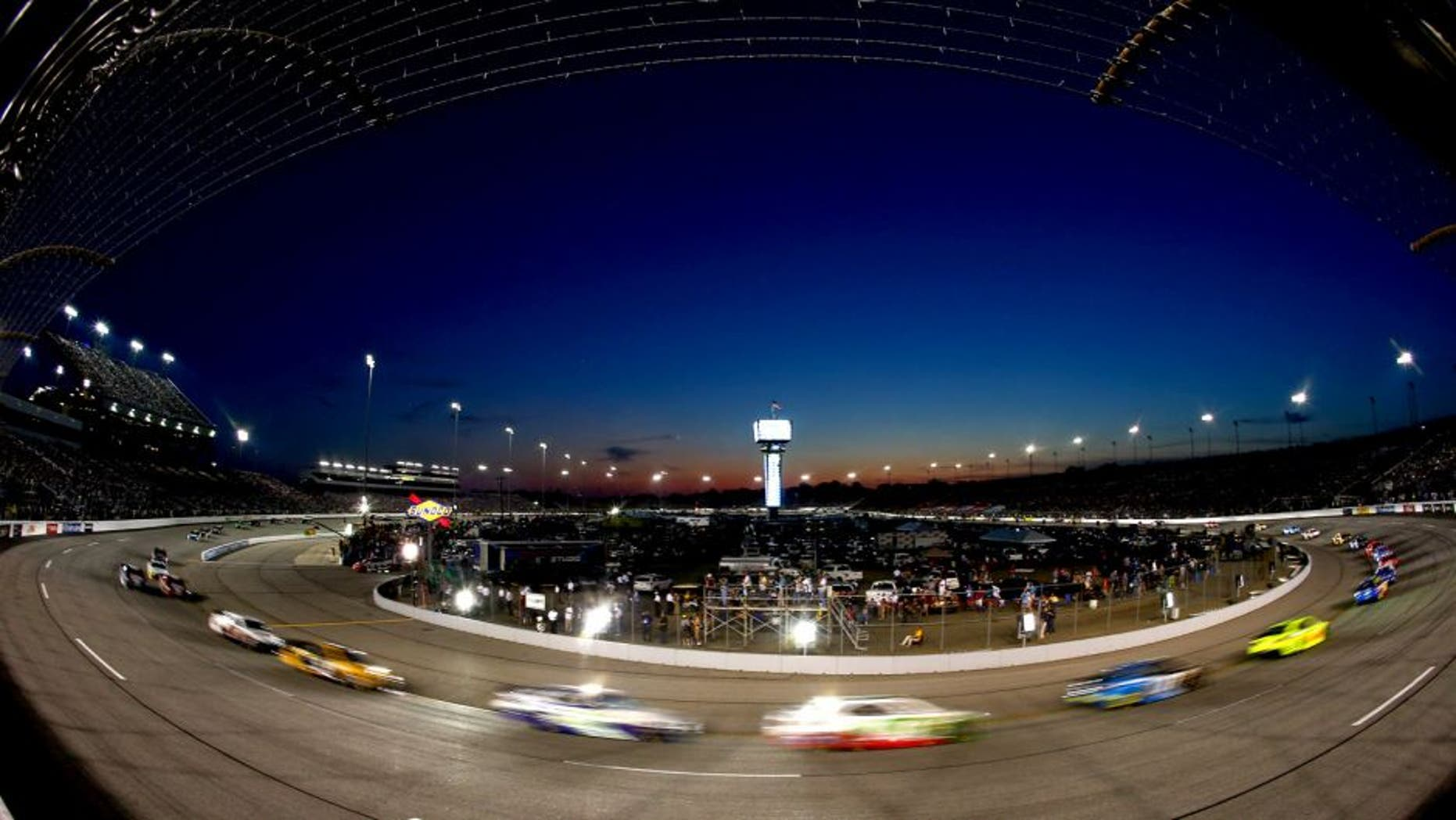 RICHMOND, VA - SEPTEMBER 07: General view of cars racing the NASCAR Sprint Cup Series 56th Annual Federated Auto Parts 400 at Richmond International Raceway on September 7, 2013 in Richmond, Virginia. (Photo by Jonathan Ferrey/NASCAR via Getty Images)