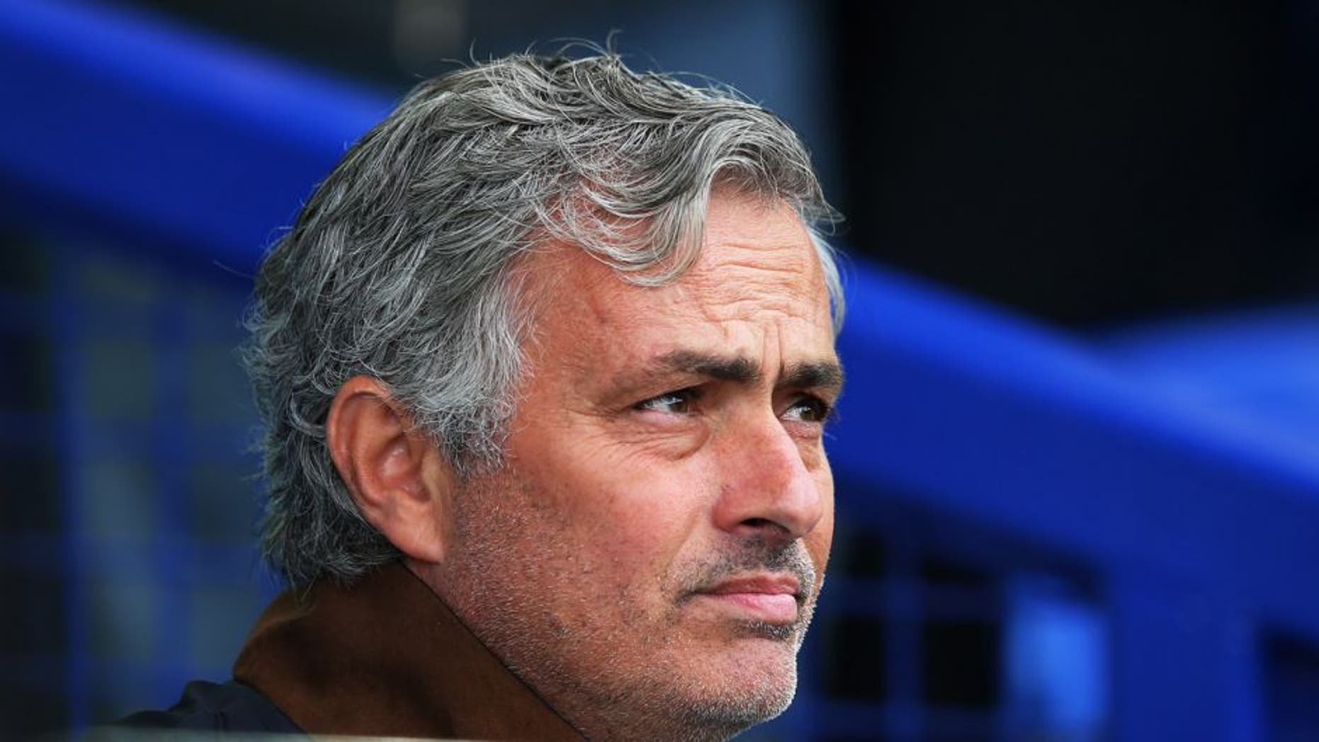 LIVERPOOL, ENGLAND - SEPTEMBER 12: Jose Mourinho, manager of Chelsea looks on during the Barclays Premier League match between Everton and Chelsea at Goodison Park on September 12, 2015 in Liverpool, United Kingdom. (Photo by Alex Livesey/Getty Images)