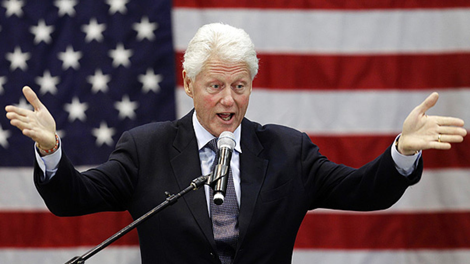 Sept. 14: Former President Bill Clinton speaks at a rally for Ohio Democratic Gov. Ted Strickland in Cleveland.