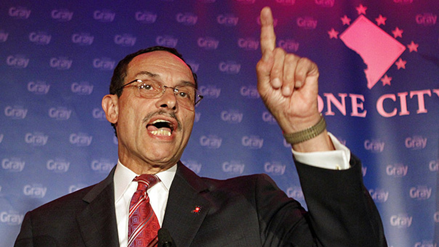 Sept. 15: District of Columbia mayoral candidate and Council Chairman Vincent Gray speaks in Washington.