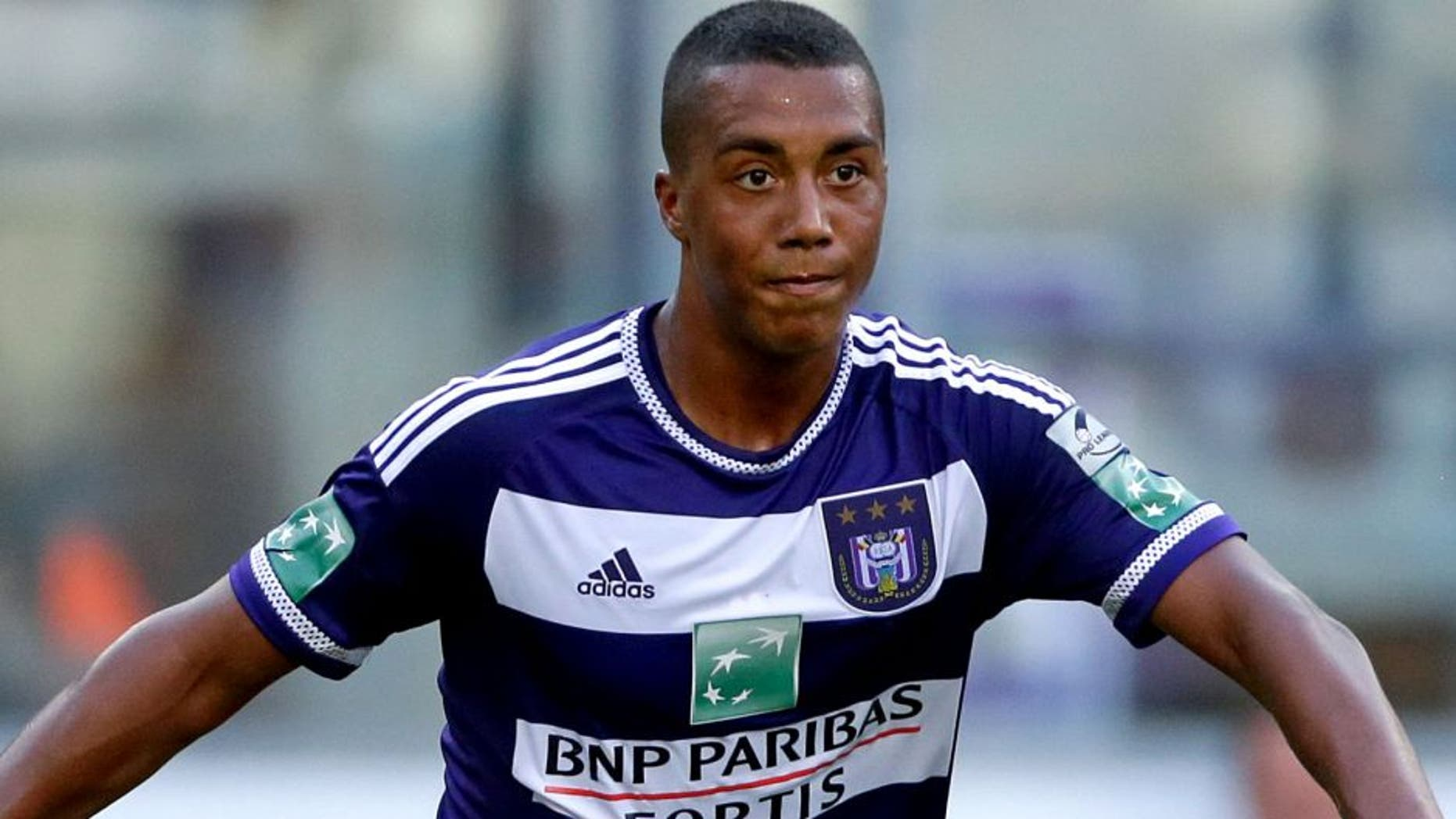 Youri Tielemans of Anderlecht during the pre-season friendly match between RSC Anderlecht and SS Lazio Roma on July 19, 2015 at the Constant Vanden Stock stadium in Brussels, Belgium.(Photo by VI Images via Getty Images)
