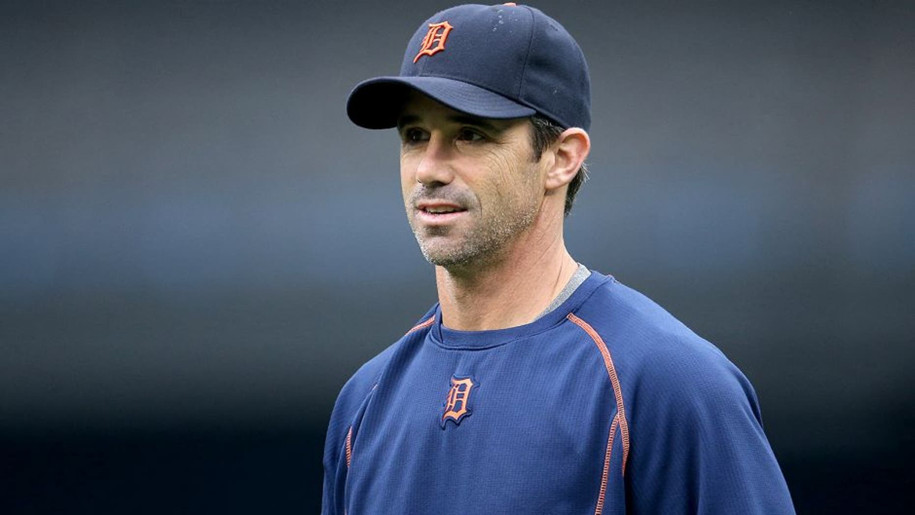 TORONTO, CANADA - AUGUST 29: Manager Brad Ausmus #7 of the Detroit Tigers during batting practice before the start of MLB game action against the Toronto Blue Jays on August 29, 2015 at Rogers Centre in Toronto, Ontario, Canada. (Photo by Tom Szczerbowski/Getty Images)