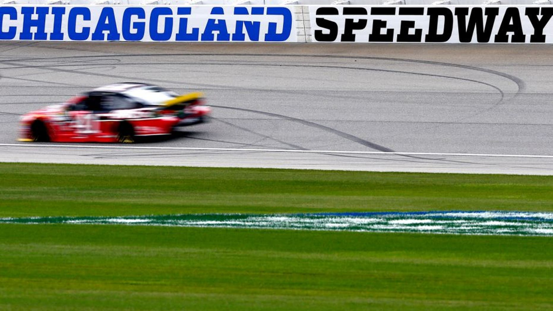 JOLIET, IL - SEPTEMBER 18: Kurt Busch, driver of the #41 Haas Automation Chevrolet, practices for the NASCAR Sprint Cup Series myAFibRisk.com 400 at Chicagoland Speedway on September 18, 2015 in Joliet, Illinois. (Photo by Jeff Zelevansky/NASCAR via Getty Images)
