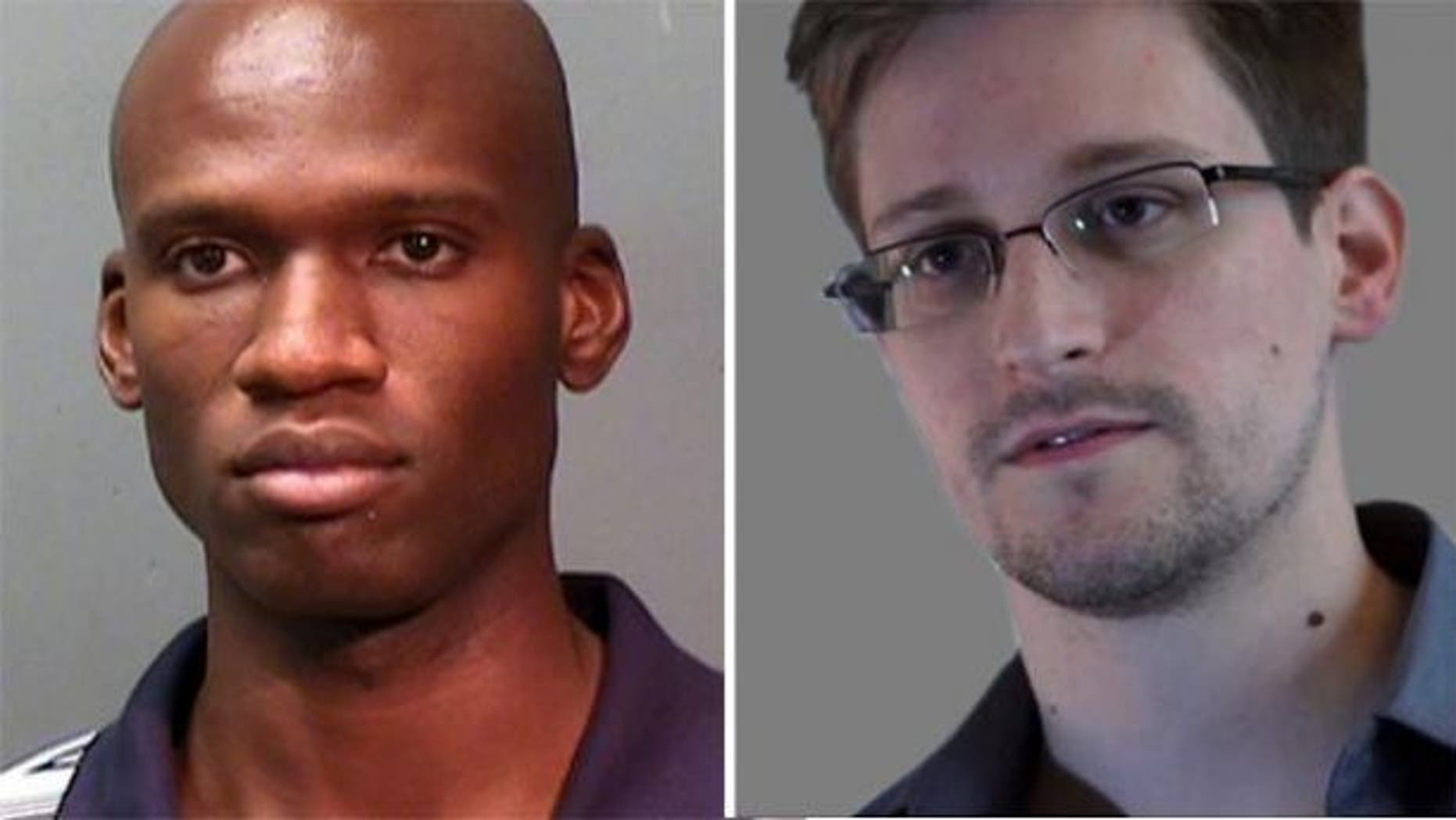Aaron Alexis, left, and Edward Snowden underwent background checks performed by USIS