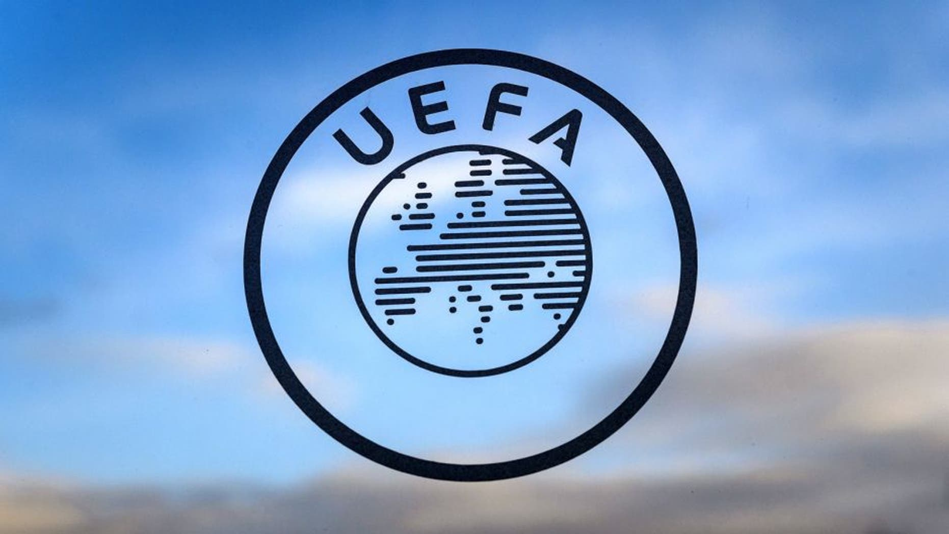 A logo of the UEFA the European football governing body is seen on December 15, 2014 at the UEFA headquarters in Nyon. AFP PHOTO / FABRICE COFFRINI (Photo credit should read FABRICE COFFRINI/AFP/Getty Images)