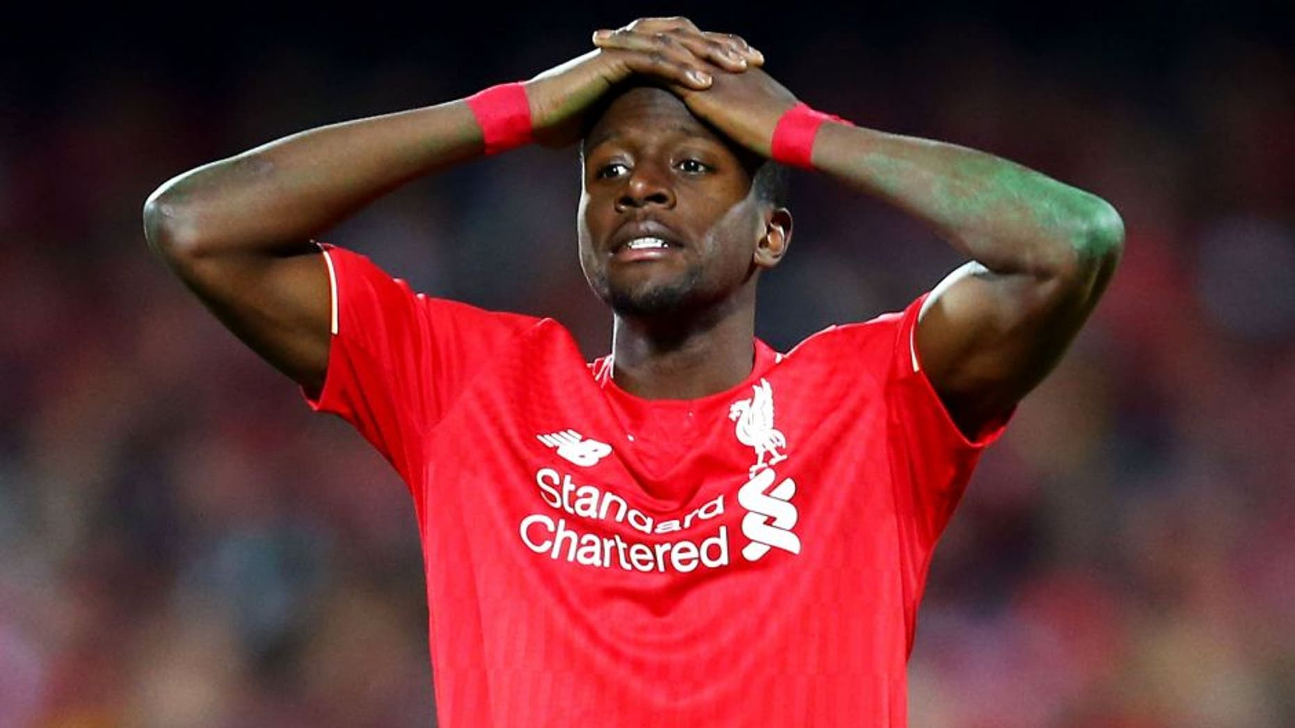 ADELAIDE, AUSTRALIA - JULY 20: c of Liverpool reacts during the international friendly match between Adelaide United and Liverpool FC at Adelaide Oval on July 20, 2015 in Adelaide, Australia. (Photo by Matt King/Getty Images)