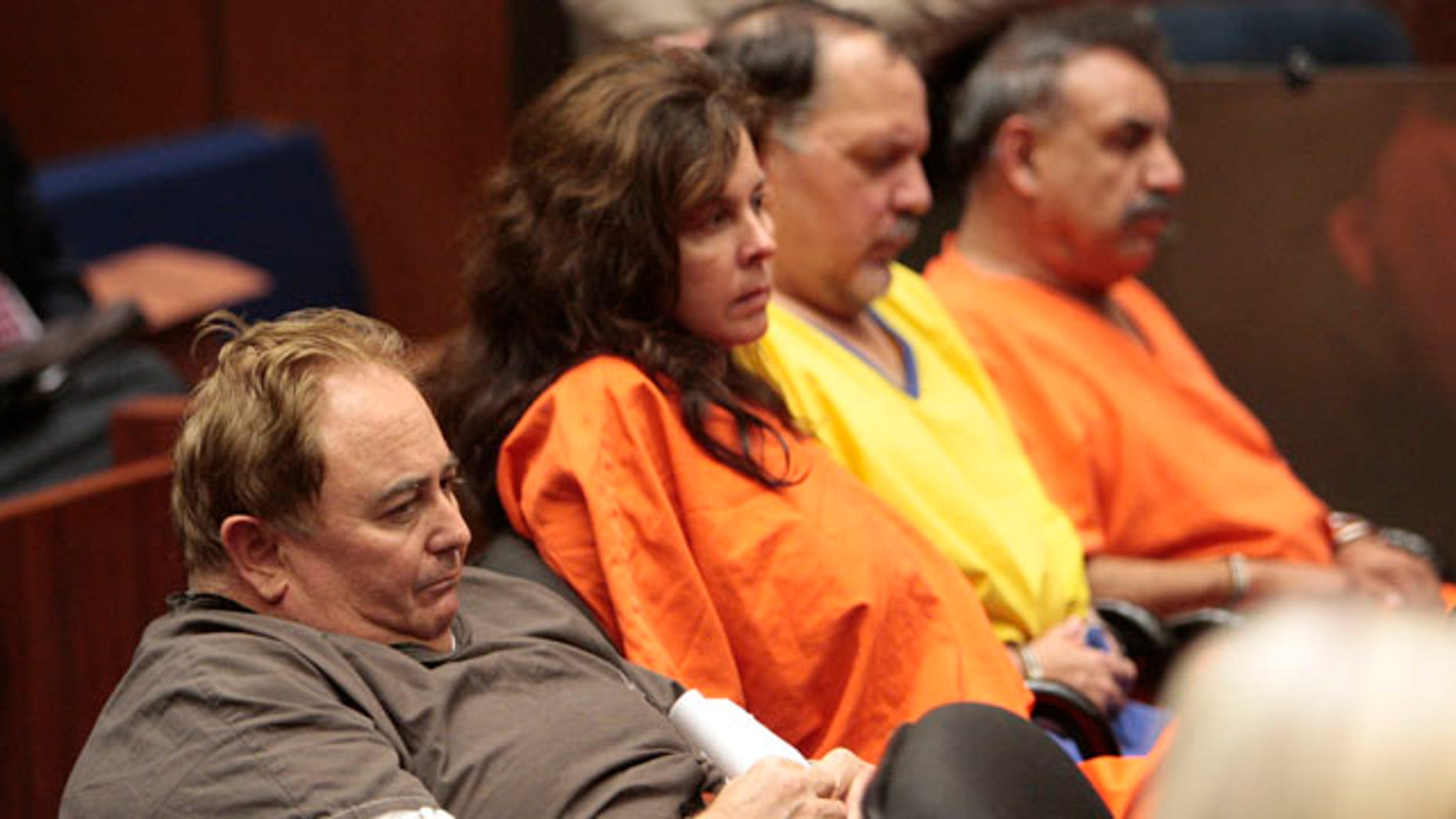 Several Bell officials face criminal charges, including (from l.) Robert Rizzo, Angela Spaccia, Victor Bello and former Mayor Oscar Hernandez. Here they are seen at a Los Angeles County Superior Court bail hearing. (AP)
