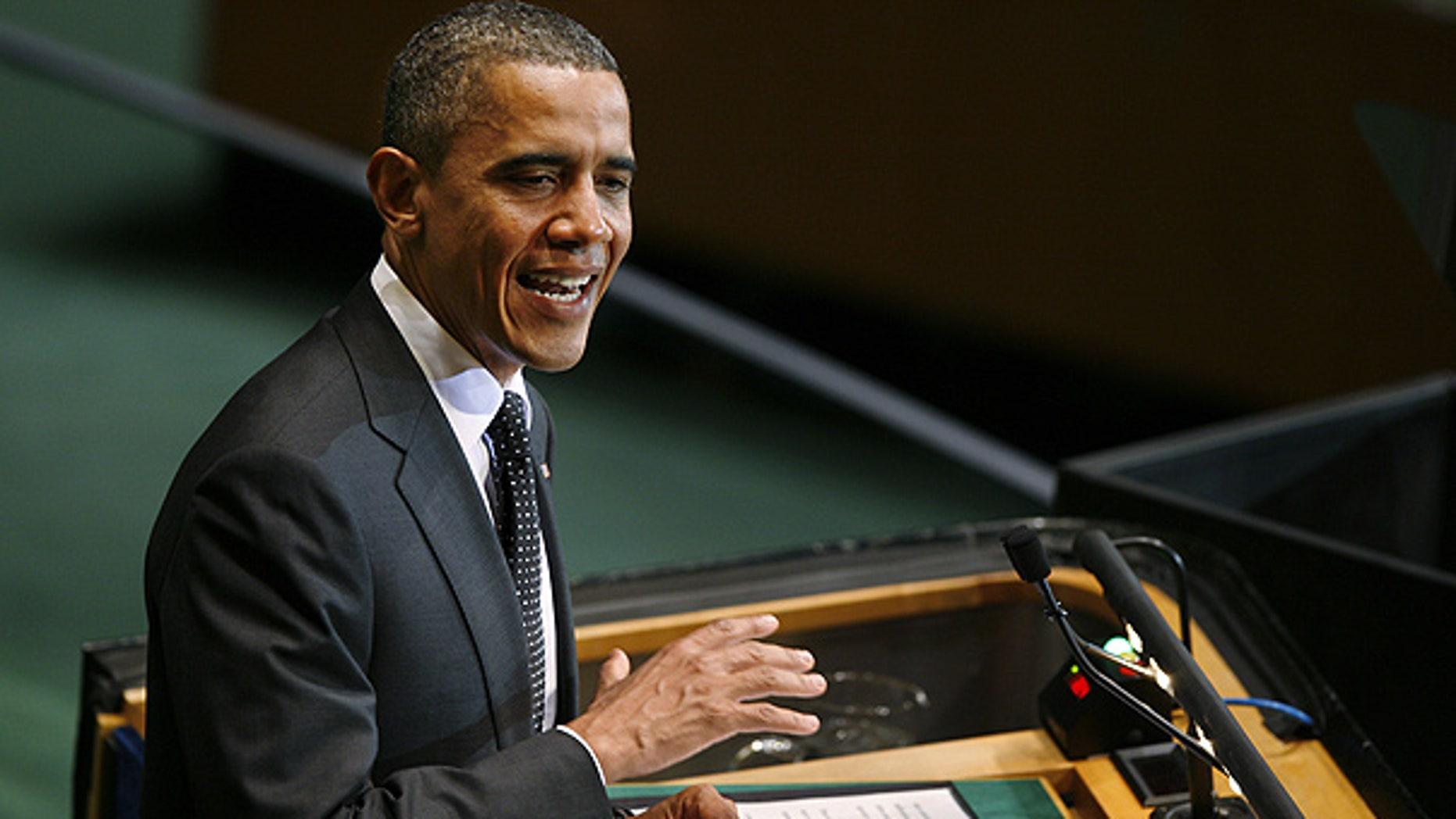 Sept. 22: President Obama speaks at a summit on the Millennium Development Goals at U.N. headquarters.