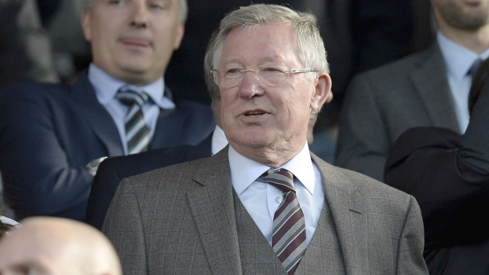 Manchester United's former Scottish manager Alex Ferguson arrives to watch the English Premier League football match between Manchester United and Liverpool at Old Trafford in Manchester, north west England, on September 12, 2015. AFP PHOTO / OLI SCARFF RESTRICTED TO EDITORIAL USE. No use with unauthorized audio, video, data, fixture lists, club/league logos or 'live' services. Online in-match use limited to 75 images, no video emulation. No use in betting, games or single club/league/player publications. (Photo credit should read OLI SCARFF/AFP/Getty Images)