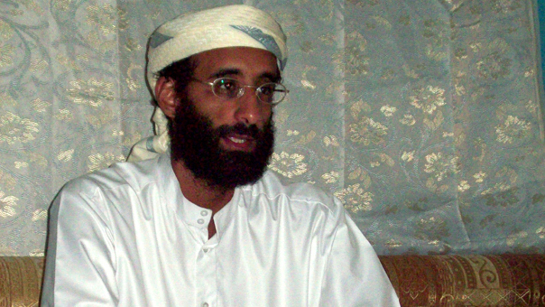 This October 2008 file photo by Muhammad ud-Deen shows Imam Anwar al-Awlaki in Yemen.