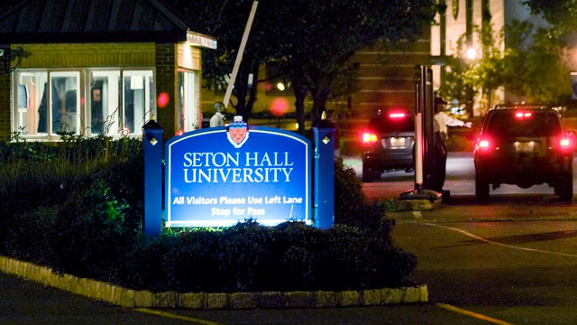 The Seton Hall University campus in East Orange, N.J.