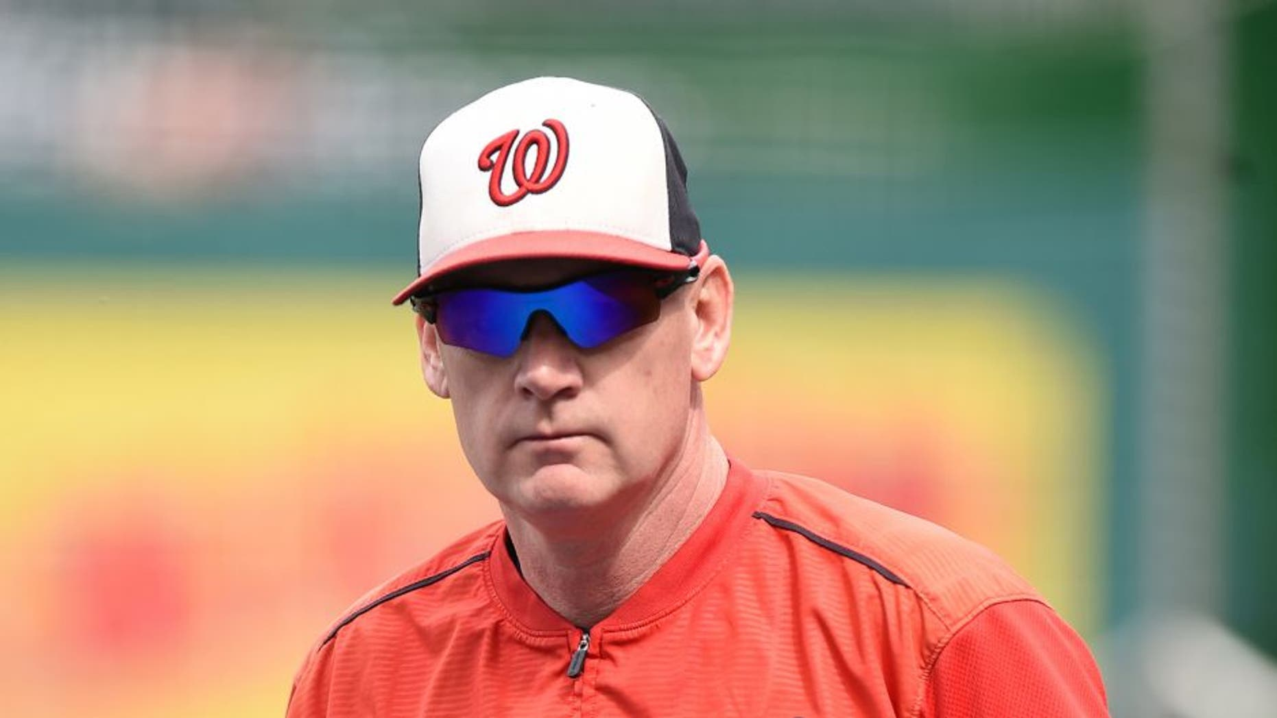 WASHINGTON, DC - SEPTEMBER 24: Manager Matt Williams #9 of the Washington Nationals looks on before a baseball game against the Baltimore Orioles at Nationals Park on September 24, 2015 in Washington, DC. (Photo by Mitchell Layton/Getty Images)