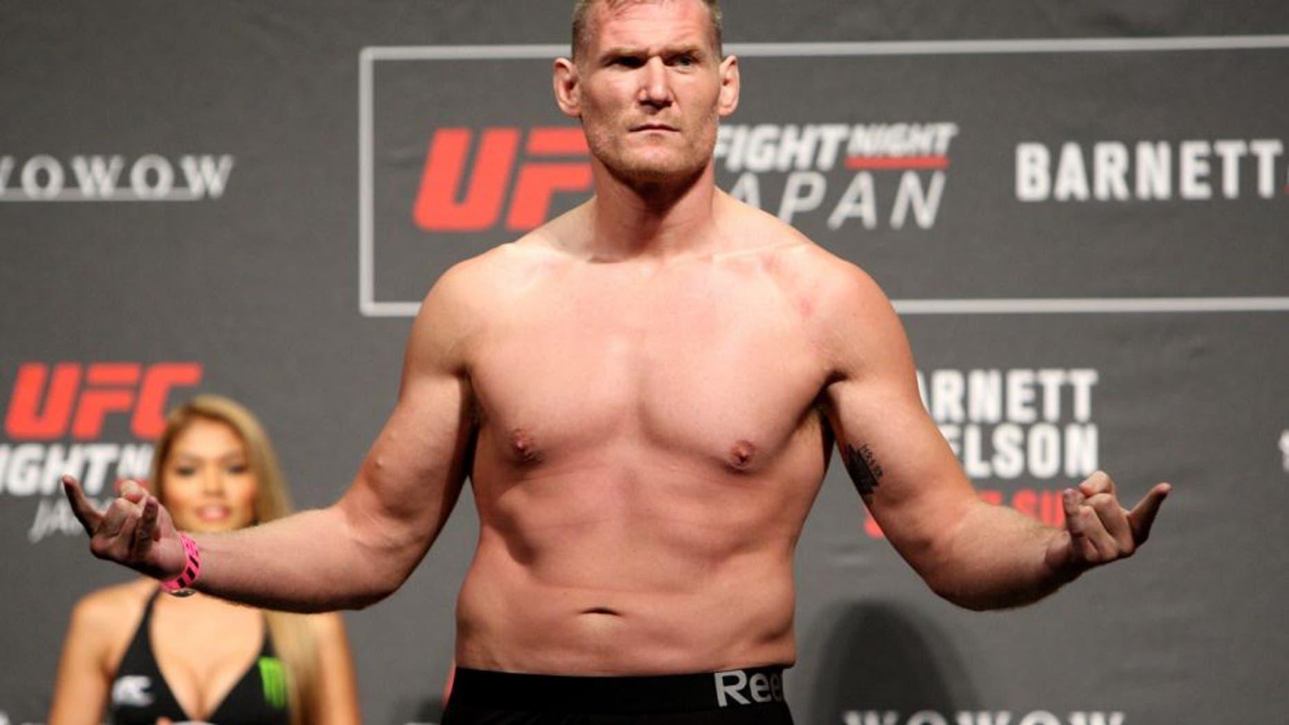 SAITAMA, JAPAN - SEPTEMBER 25: Josh Barnett during the UFC weigh-in at the Saitama Super Arena on September 25, 2015 in Saitama, Japan. (Photo by Mitch Viquez/Zuffa LLC/Zuffa LLC via Getty Images)