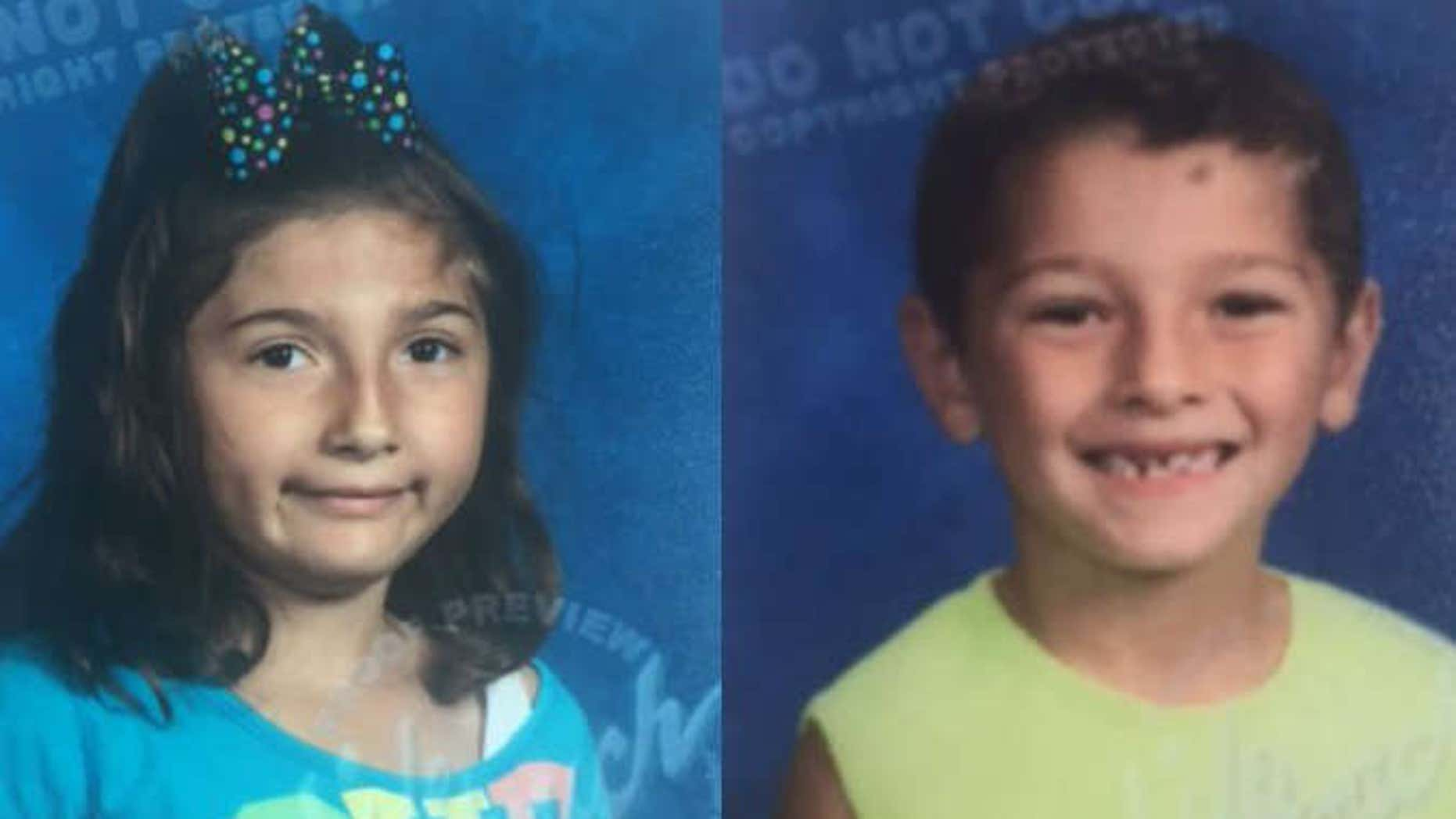 Lillana Hernandez, 7, and Rene Pasztor, 6.