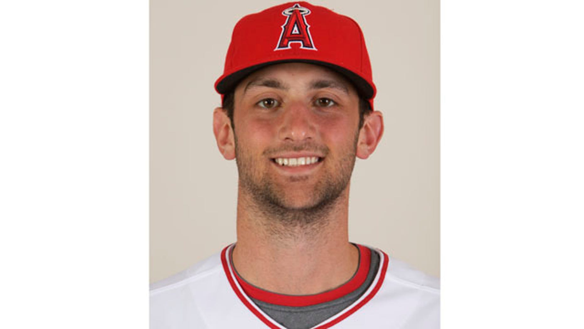 FILE - In a Feb. 25, 2009, file photo, then-Los Angeles Angels pitcher Nick Adenhart poses for a photo in Tempe, Ariz.