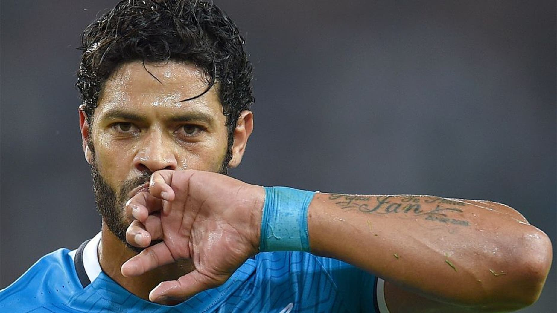 MOSCOW, RUSSIA - SEPTEMBER 26: Hulk of FC Zenit St. Petersburg celebrates after scoring a goal during the Russian Premier League match between FC Spartak Moscow and FC Zenit St. Petersburg at the Arena Otkritie Stadium on September 26, 2015 in Moscow, Russia. (Photo by Epsilon/Getty Images)