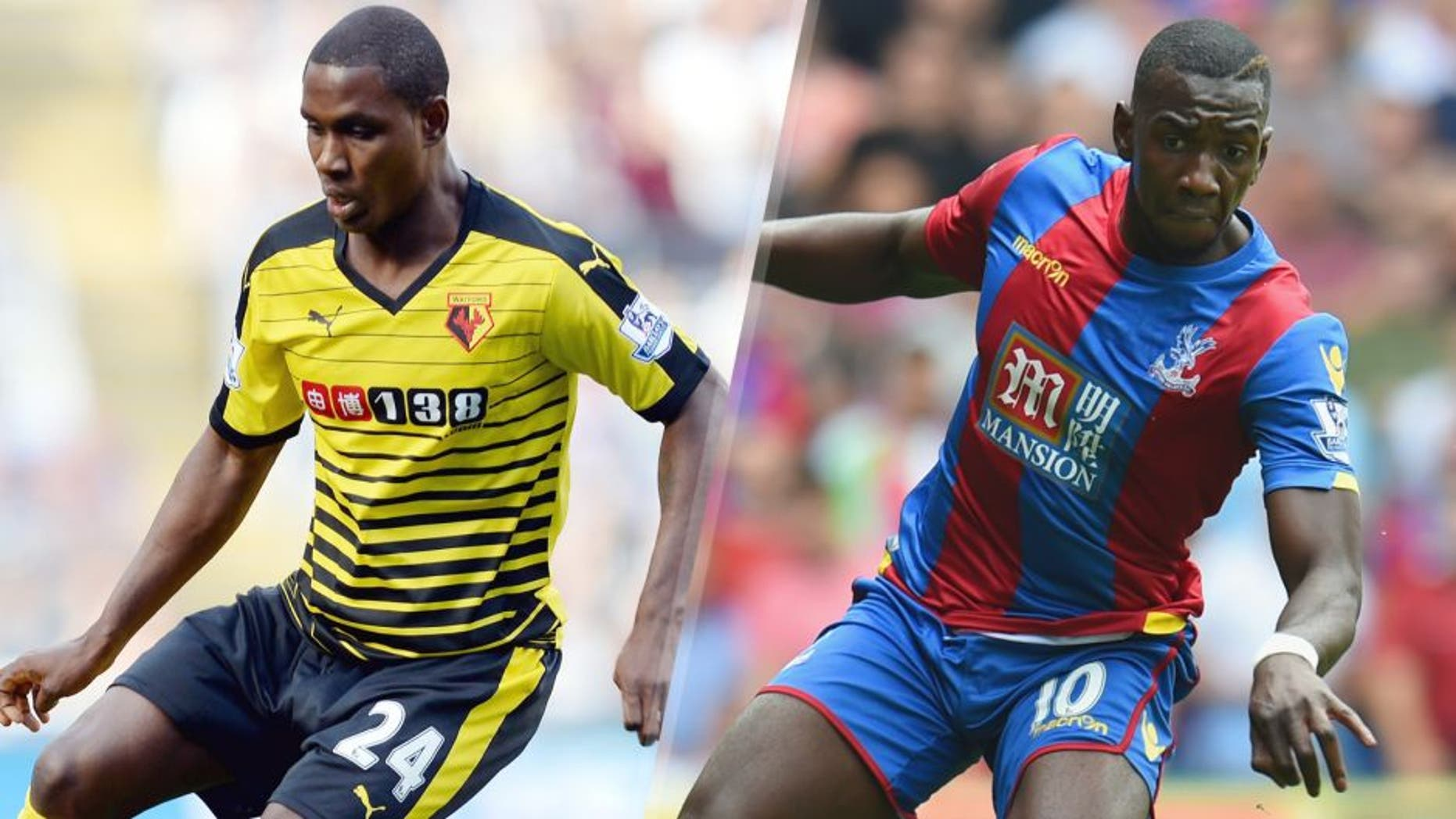 Odio Ighalo of Watford during the Barclays Premier League match between Newcastle United and Watford on September 19, 2015 in Newcastle upon Tyne, United Kingdom. (Photo by Nigel Roddis/Getty Images) Yannick Bolasie of Palace in action during the Barclays Premier League match between Crystal Palace and Arsenal on August 16, 2015 in London, United Kingdom. (Photo by Michael Regan/Getty Images)