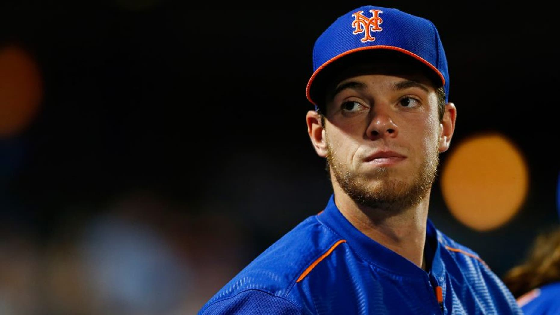 NEW YORK, NY - JULY 10: Steven Matz of the New York Mets in the dugout against the Arizona Diamondbacks during a game on July 10, 2015 at Citi Field in the Flushing neighborhood of the Queens borough of New York City. (Photo by Rich Schultz/Getty Images)