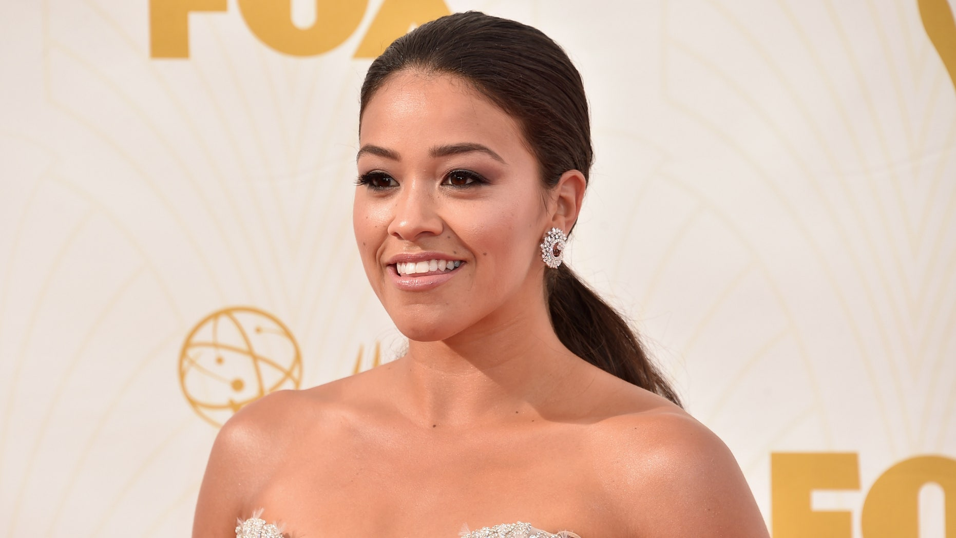Gina Rodriguez attends the 67th Emmy Awards on September 20, 2015 in Los Angeles.