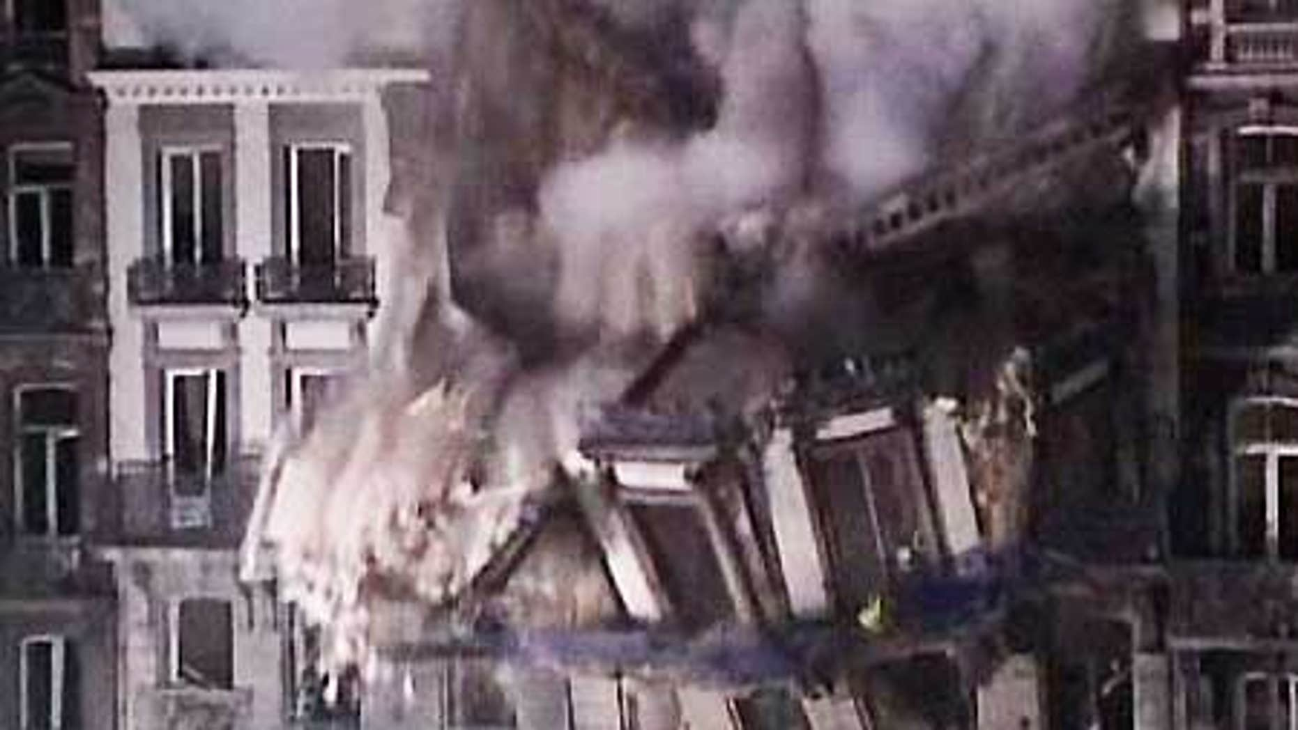 Jan. 27: An apartment building collapses in the city of Liege, Belgium.