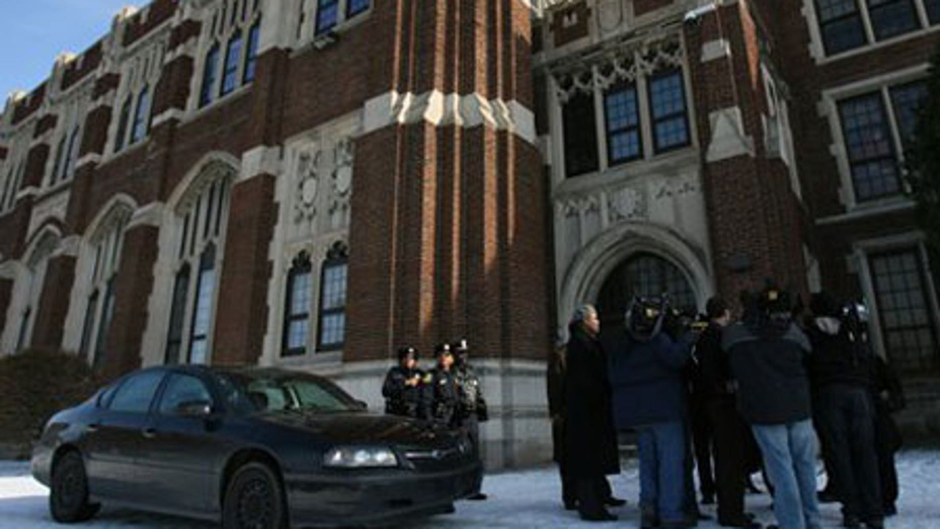 Feb. 17: Police Chief Charles Mitchell holds a press conference about a shooting at Central High School in Detroit.