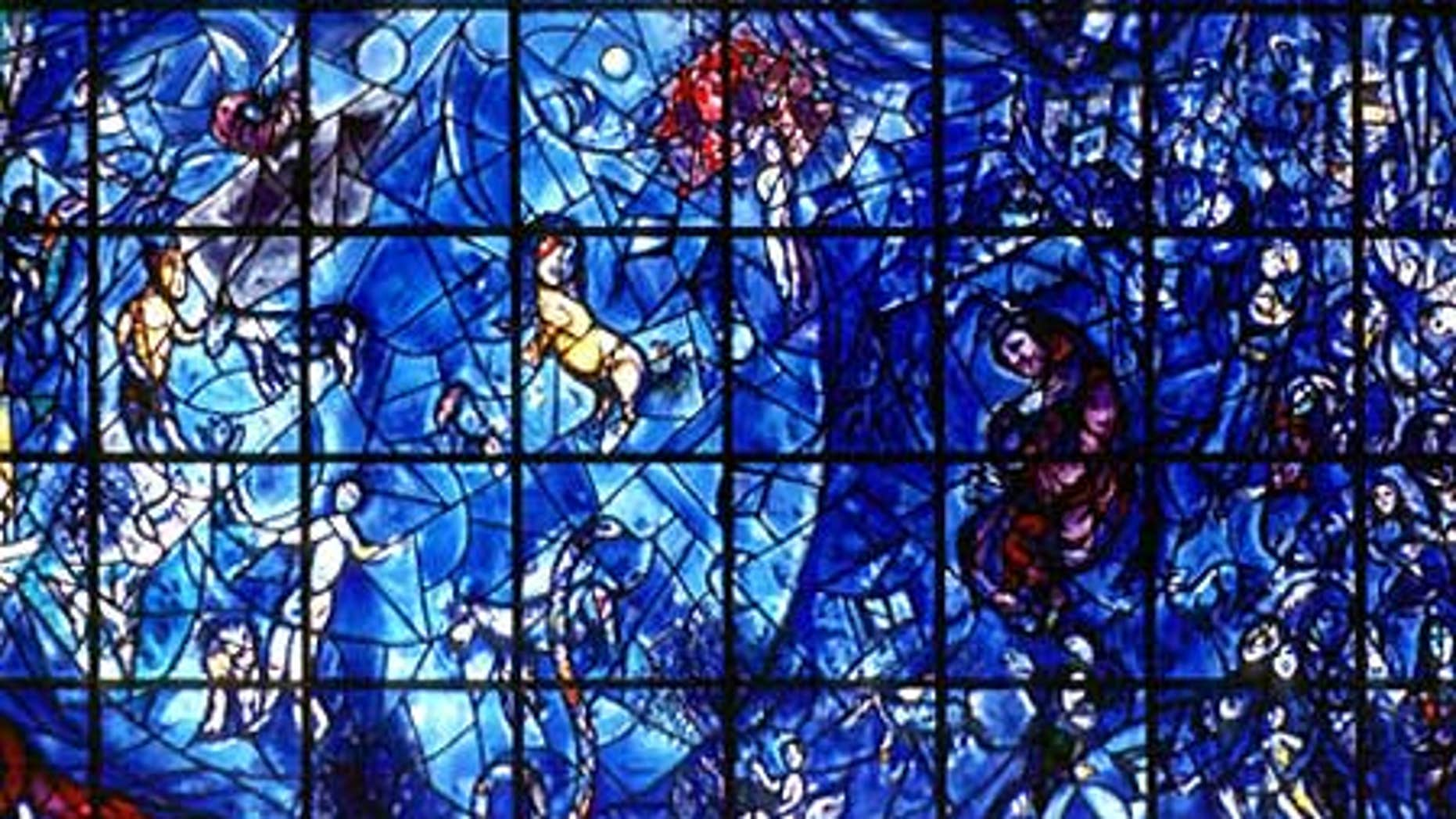The U.N. displays more than 240 works of art, including this stained glass window by Marc Chagall. An internal audit showed that a number of artworks have been lost by the world body.
