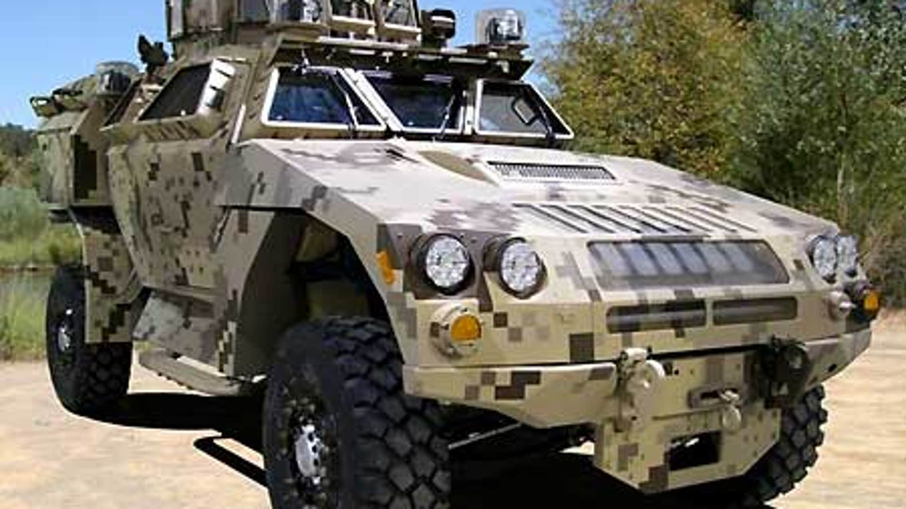 The MRAP All Terrain Vehicle is designed to handle Afghanistan's rough terrain and protect against IED's.