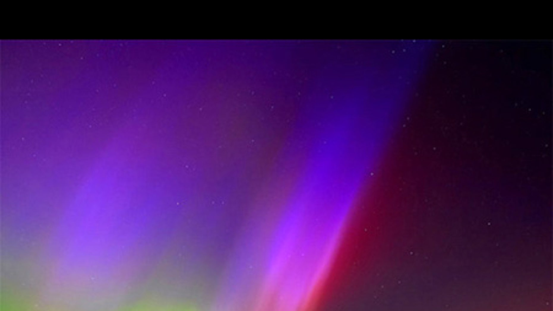 The aurora borealis, also known as the northern lights, five miles outside Kearney, Neb., on the evening of May 14, 2005.
