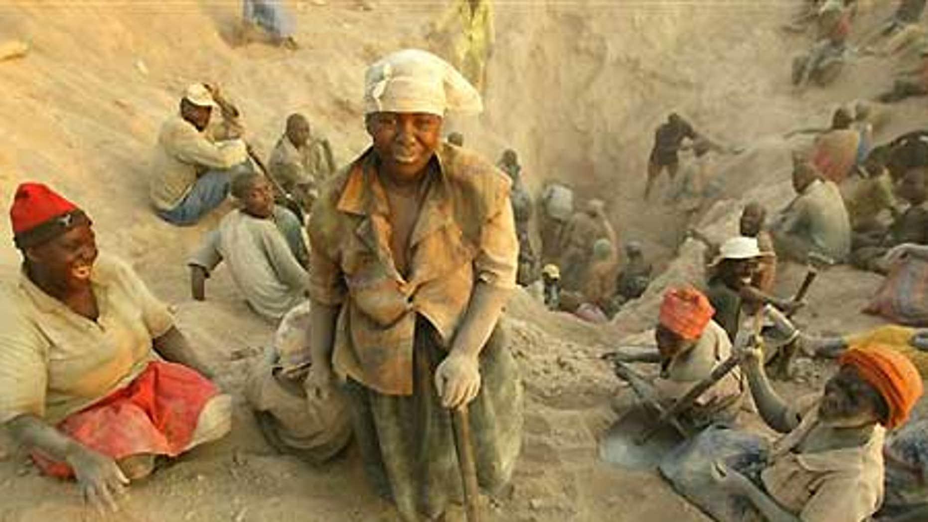 Nov. 1, 2006: Miners dig for diamonds in Marange, eastern Zimbabwe.