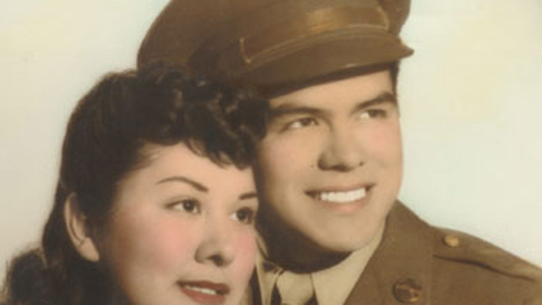 File: Angel Garcia and his wife