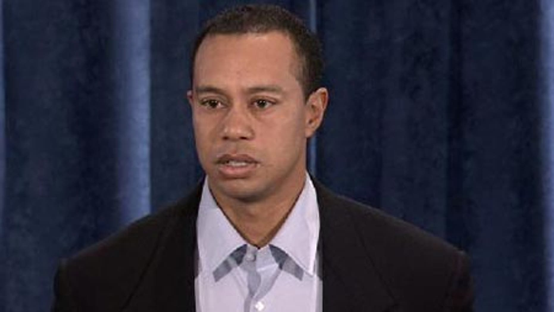 Tiger Woods gives his mea culpa before the world.