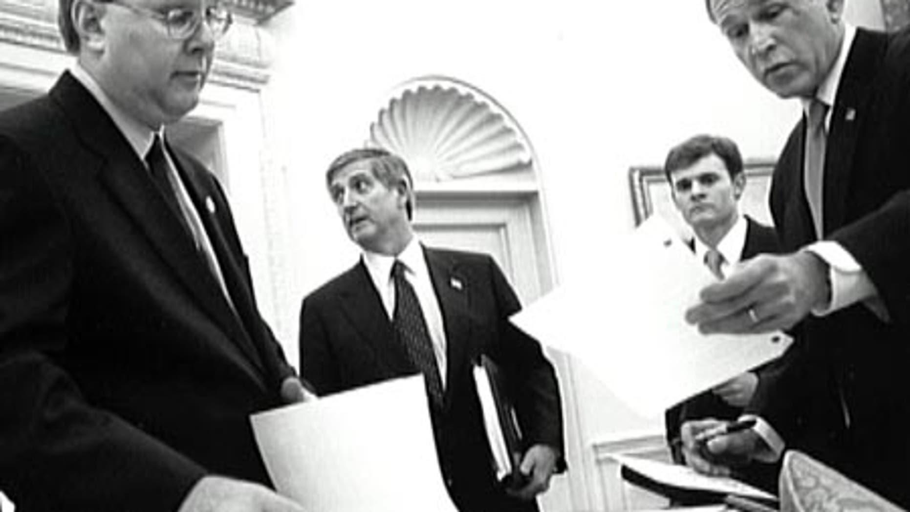 Karl Rove with former President George W. Bush