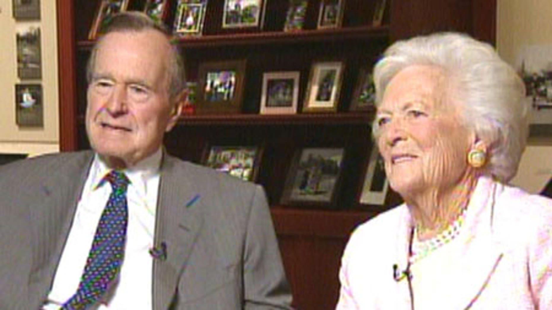 Former President George H.W. Bush and former first lady Barbara Bush