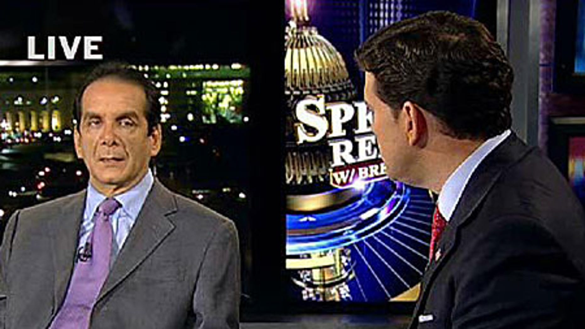 FOX News contributor Charles Kondracke with host Bret Baier
